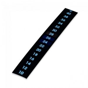 Stick on thermometer strip.
