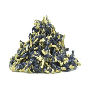 Thai blue pea flowers dried